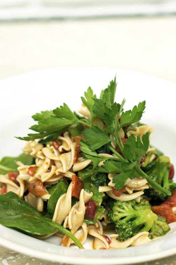 Fusilli al Pomodoro aux Légumes