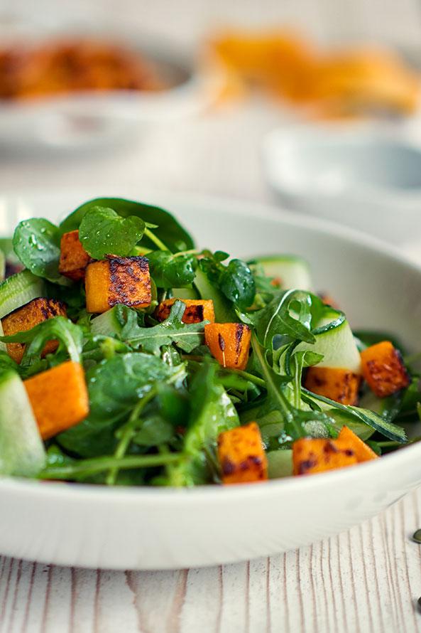 Salade à la Citrouille et aux Épinards