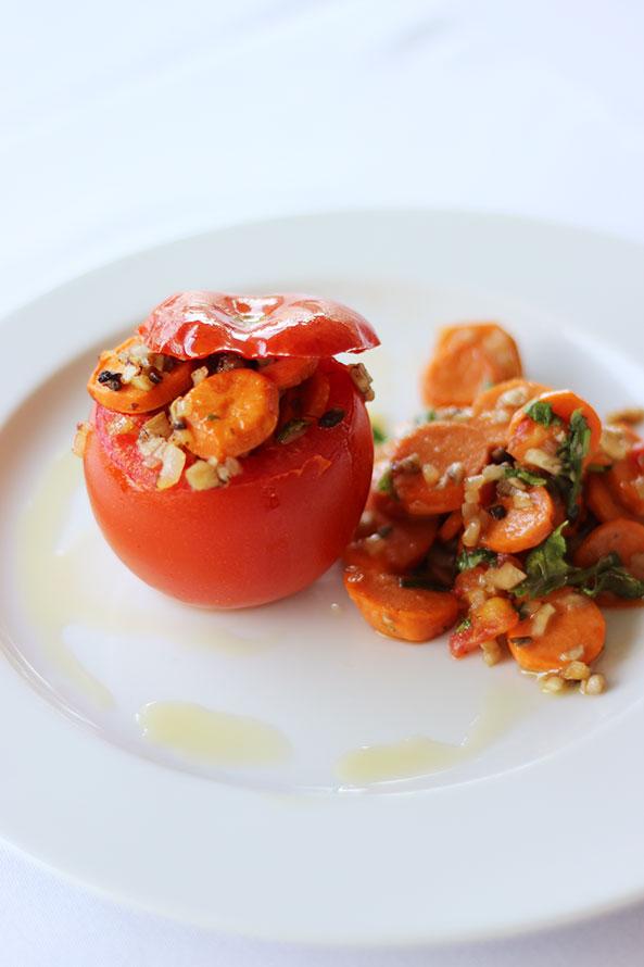 Tomate Farcie à la Saucisse