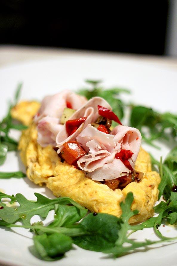 Recette Lev Diet Omelette Méditerranéenne avec Jambon de Dinde