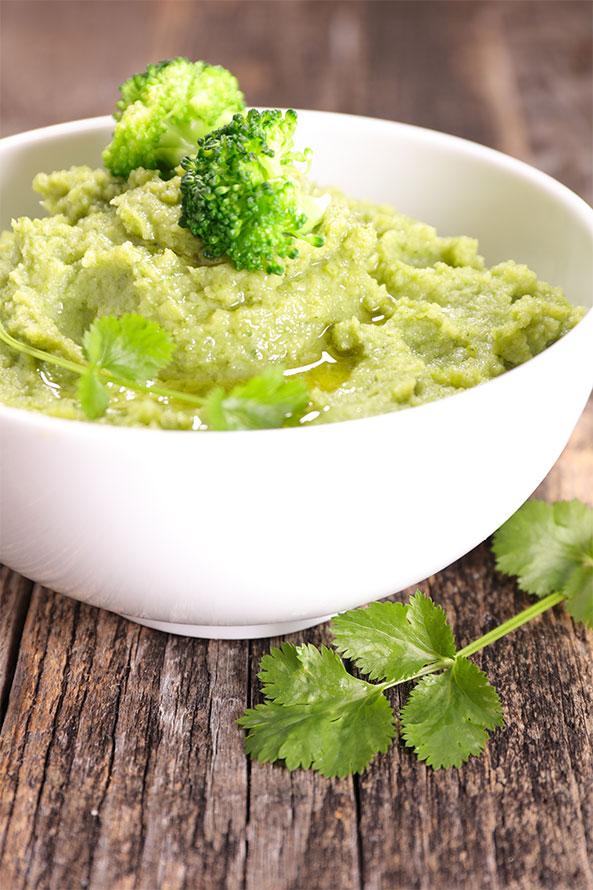 Recette Lev Diet Purée de Brocolis avec des Champignons