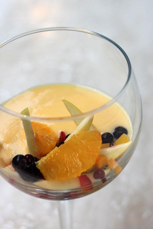 Recette Levdiet® L'entremet crème pâtissière aux fruits