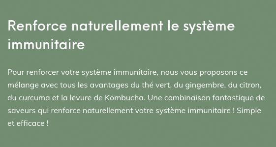 Renforce naturellement le systéme immunitaire